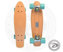 Land Surfer fish skateboard peach with mint green wheels