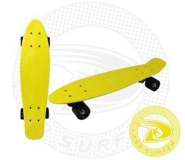 Land Surfer fish skateboard geel met zwarte wielen