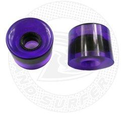 Land Surfer Skateboard wheels transparent purple (set of 2 pieces)