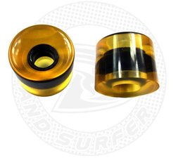 Land Surfer Skateboard wheels transparent yellow (set of 2 pieces)
