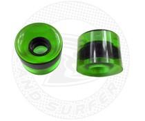 Land Surfer Skateboard wielen transparant groen (set van 2 stuks)