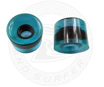 Land Surfer Skateboard wheels transparent blue (set of 2 pieces)