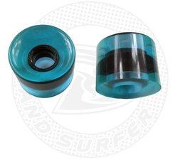 Land Surfer Skateboard wheels transparent blue (set of 2 pieces)