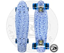 "Land Surfer skateboard ""china"" with transparent blue wheels"