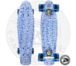 "Land Surfer skateboard ""china"" with transparent blue wheels"