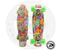 """Land Surfer fish skateboard """"candy"""" met groene wielen"""