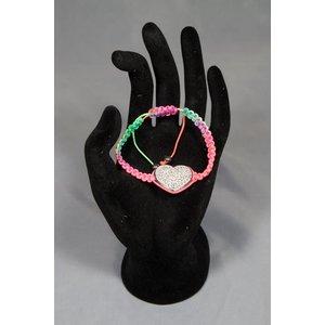 Armband met glitter hart