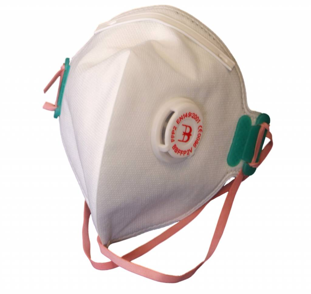 26460e14436 Opvouwbaar P2 masker met ventiel - All Risk Safety & Workwear