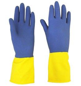 Beeswift Bi-colour heavy weight rubber handschoen
