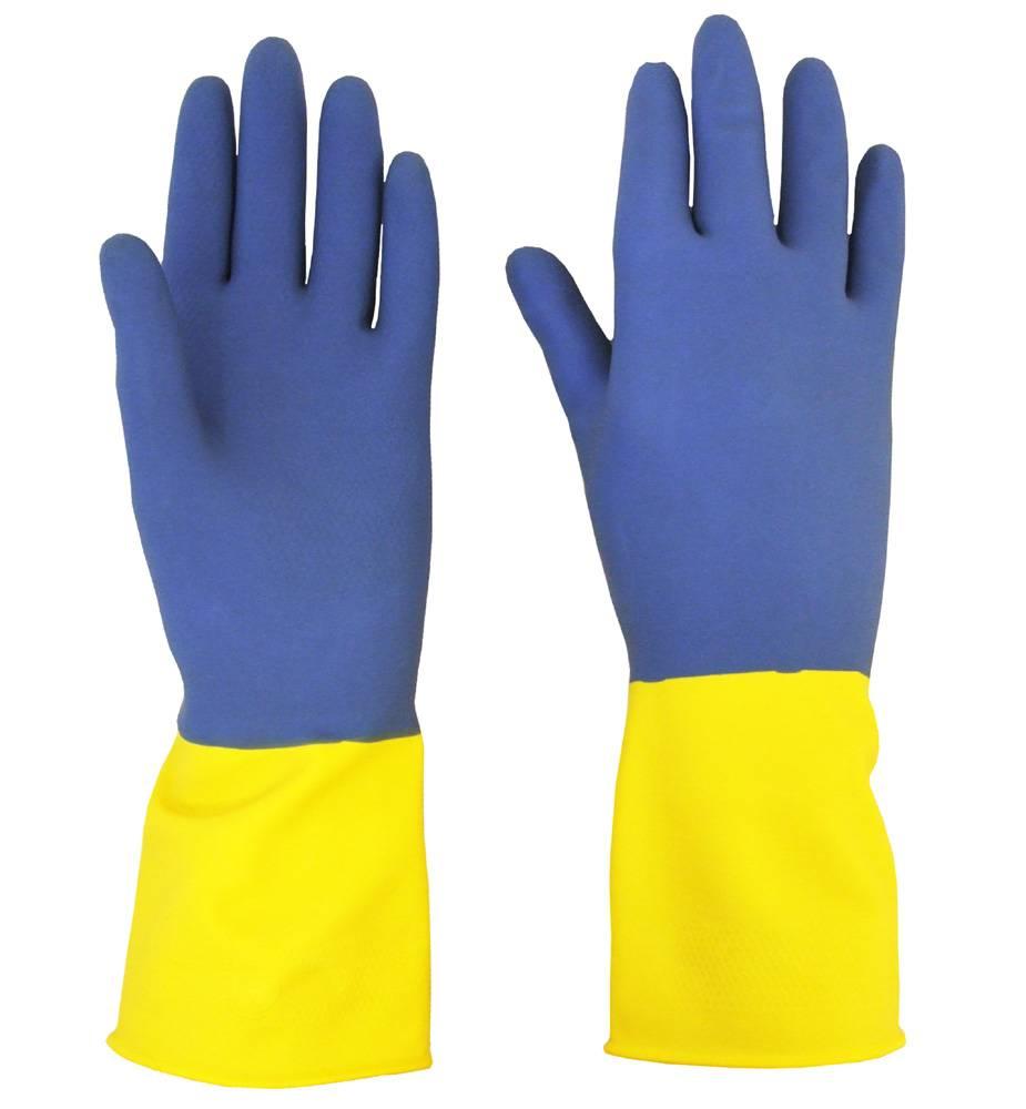 Beeswift Neopreen handschoen/geel-blauw