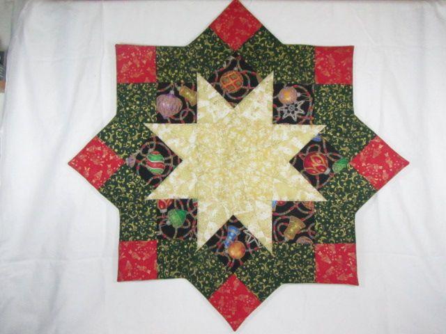Tischdecke Weihnachten Sternform