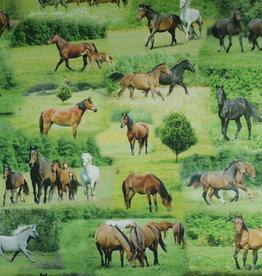 """Stoff """"Pferde auf der Koppel (Tiffi)"""""""