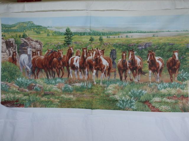 """Stoff Paneel """"Pferde"""" (Wild and Free)"""