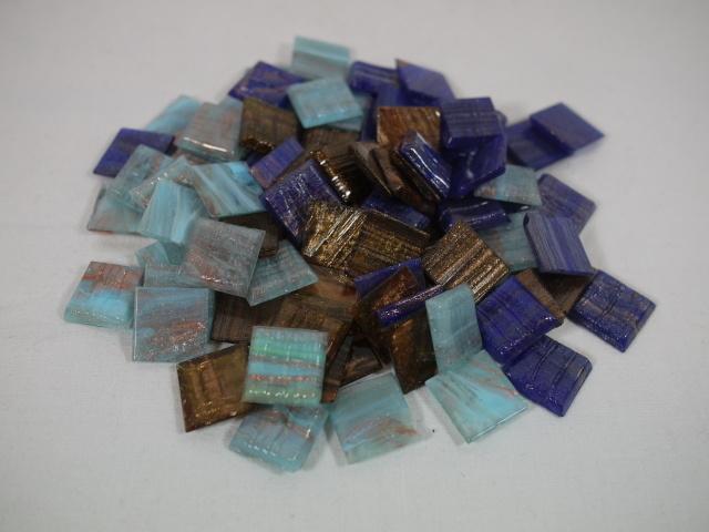 Feine, italienische Glasmosaiksteine Mosaico