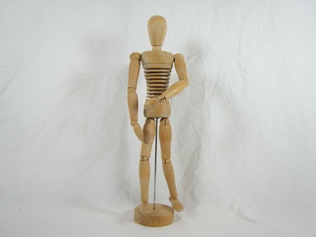 Gliederpuppe aus Holz zum Modellieren