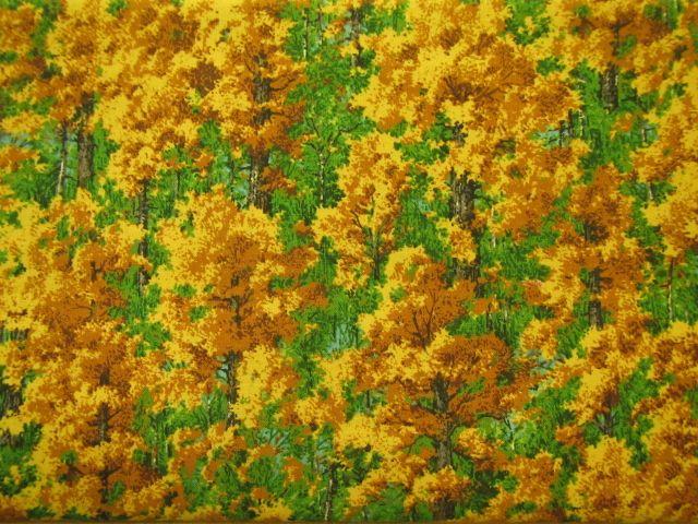 Stoff Bäume im Herbst