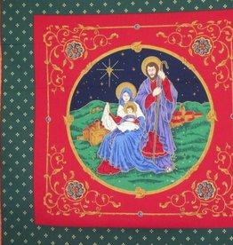 """Kissenpaneel """"Weihnachten Hl. Familie"""""""