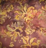 Indonesischer Batikstoff braun violett ocker