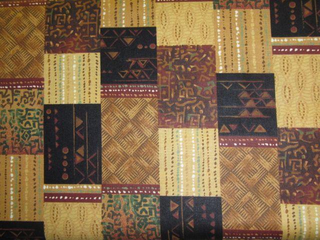 Stoff Streifenbordüren mit afrikanischen Mustern