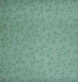 Stoff grüne Blätter pastellgrün