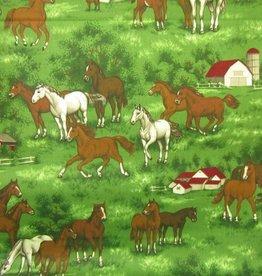 """Stoff """"Pferde auf der Koppel"""""""