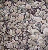 Stoff Steine auf dunkelbraun