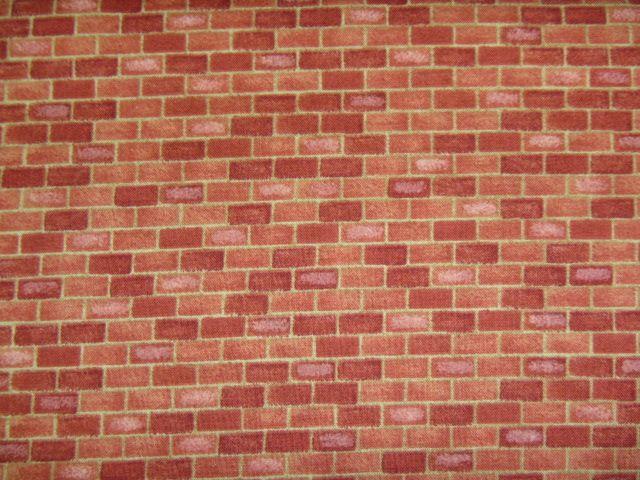 Stoff Ziegelmauer
