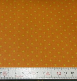 """Stoff """"Gelbe Punkte auf orange"""""""