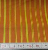 Patchworkstoff gelbe Streifen auf orange