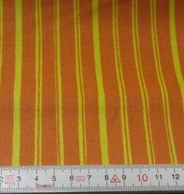"""Stoff """"Gelbe Streifen orange"""""""