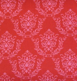 "Stoff ""Pink Ornamente rot"""