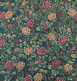 "Stoff ""Blumengarten dunkelgrün"""