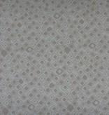 Patchworkstoff beige Quadrate auf hellbeige