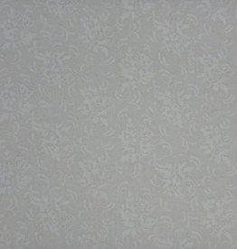 """Stoff """"Weiße Blumen weiß"""""""
