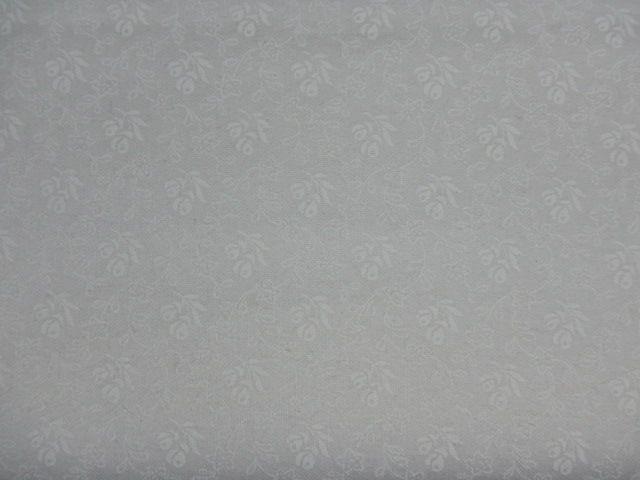 Patchworkstoff weiße Röschen auf weiß