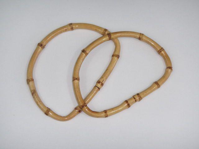 Halbrunde Handtaschengriffe Bambus