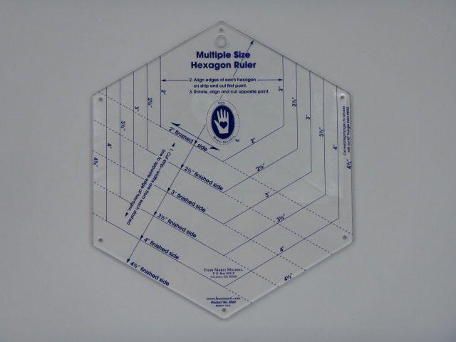 Hexagon Ruler Marti Mitchell, 6 Größen