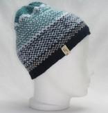 Mütze blau mit weißem Muster