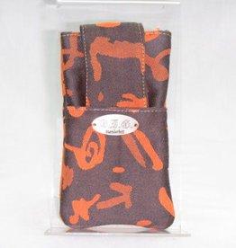 Handytasche schwarz-orange