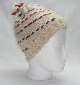 Mütze rote graue Streifen