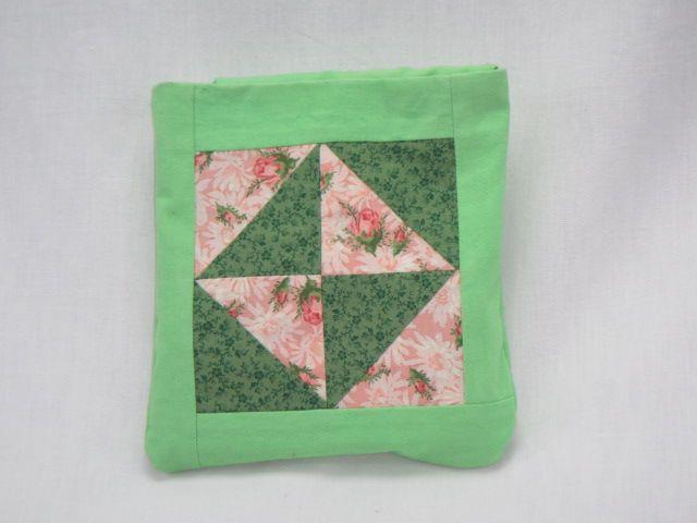 Quissentasche hellgrün rosa-grün