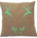 Hirschkissen braun grün
