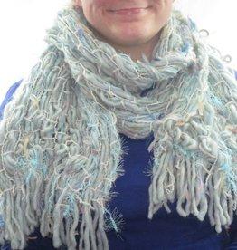 Schal blau braun