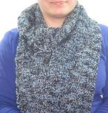 Schal hellblau grau schwarz