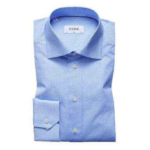 Eton dress-shirt m. blauw