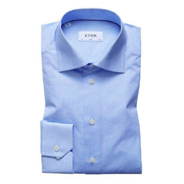 dress-shirt m. blauw