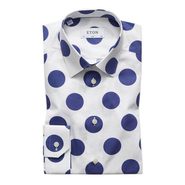 polka dot dress-shirt slimfit