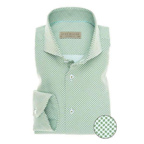 Midden Groen Print Shirt