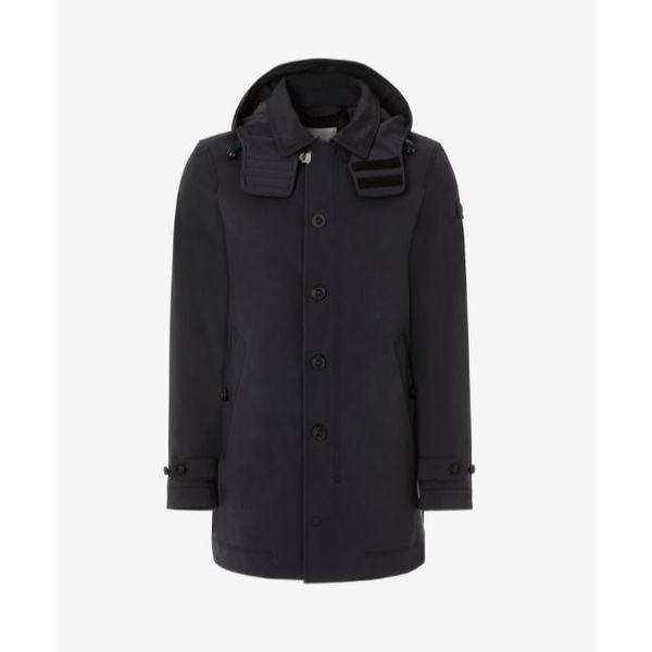 coat trebbio navy