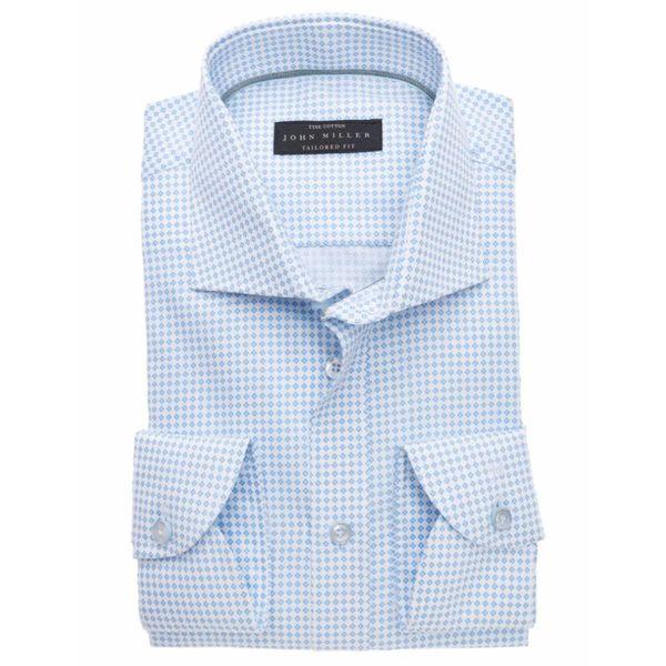 l. blauw dessin dress-shirt